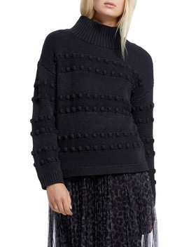 Adore A Ball Texture Stripe Turtleneck Sweater by Nic+Zoe