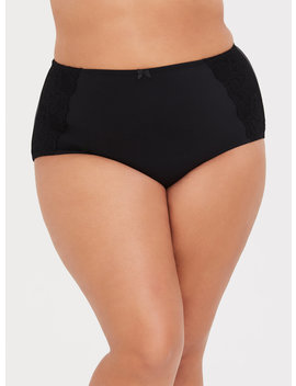 Torrid Curve Body™ Black Microfiber Brief by Torrid