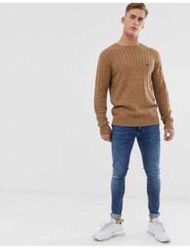 French Connection 100% Cotton Logo Cable Knit Jumper by French Connection