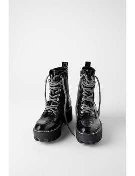 Botki Na Platformie W ZwierzĘcy DeseŃ by Zara