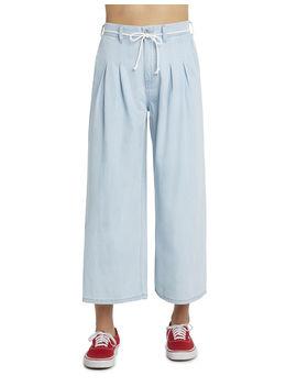 Dickies Girl Juniors' Pleated Denim Cropped Pants by Dickies