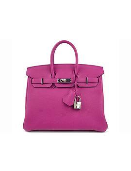 Hermes Birkin Togo Palladium 25 Rose Pourpre by Stock X