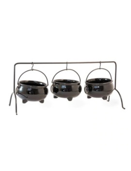 Boston International 3 Piece Cauldron Serving Set In Black by Bed Bath And Beyond