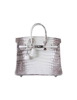 Hermes Birkin Himalayan Crocodile Matte 25 White/ Brown by Stock X