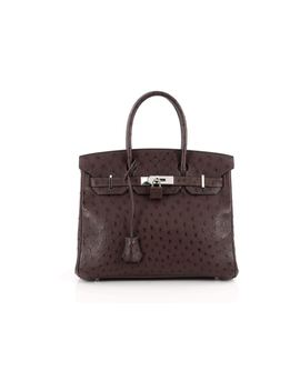 Hermes Birkin Ostrich 30 Marron Fonce by Stock X
