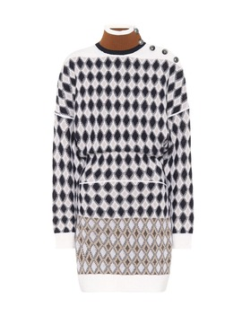 Merino Wool Blend Mini Sweater Dress by Chloé