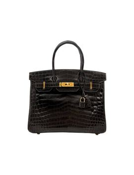 Hermes Birkin Crocodile Lisse 30 Graphite by Stock X