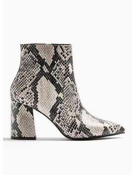 Abi Grey Pointed Ankle Boots by Miss Selfridge