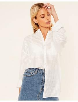 Oversized Textured Shirt by Glassons
