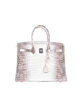 Hermes Birkin Himalayan Niloticus Crocodile Matte 35 White, Brown by Stock X