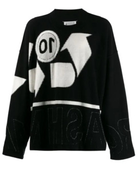 Recycled Logo Knitted Crewneck Sweater by Maison Margiela