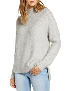 Mock Neck High Low Sweater by Caslon®