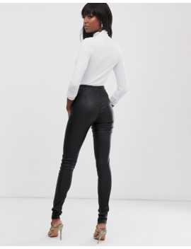 Y.A.S Tall Leather Legging In Black by Y.A.S
