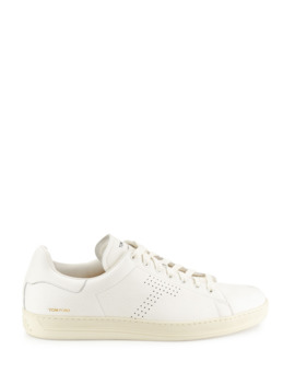 mens-warwick-grained-leather-low-top-sneakers,-white by tom-ford