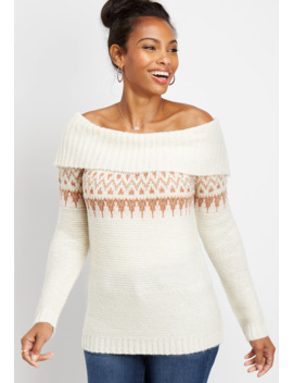 Fair Isle Marilyn Neck Pullover by Maurices