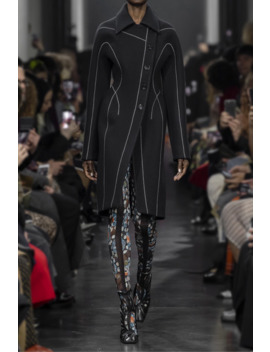 Embroidered Wool Felt Coat by Mugler