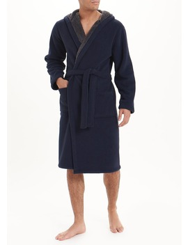 Teddy Lined Fleece Dressing Gown by Matalan
