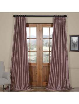 Eff Smoky Plum Vintage Faux Dupioni Silk Curtain Panel by Eff