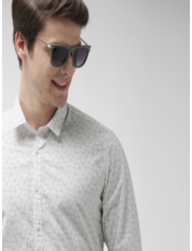 Men White & Black Printed Casual Shirt by Mast & Harbour