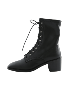 Lace Up Heeled Boots by Stylenanda