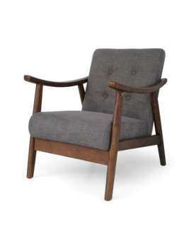 Chabani Mid Century Modern Accent Chair By Chirstopher Knight Home   Dark Gray by Christopher Knight Home