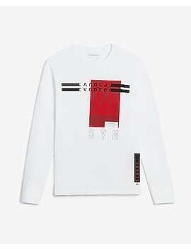 Express Nyc Block Graphic Crew Neck T Shirt by Express