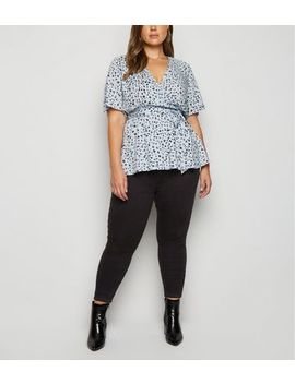 Curves Black Waist Enhance Skinny Jeans by New Look