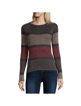 By&By Womens Scoop Neck Long Sleeve Pullover Sweater Juniors by By And By