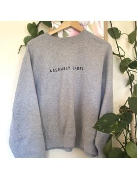Assembly Label Grey Sloppy Joe by Depop