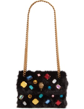 Mini Kensington Faux Fur Crossbody Bag by Kurt Geiger London