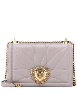 Devotion Large Leather Shoulder Bag by Dolce & Gabbana
