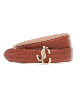 Exclusive To Mytheresa – Felisa Croc Effect Leather Belt by Jimmy Choo