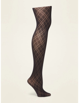 Control Top Argyle Tights For Women by Old Navy