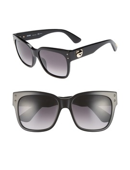 56mm Gradient Lens Sunglasses by Moschino
