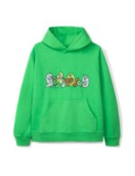 Braindead Embroidered Graffiti Hoodie (Green) by Dover Street Market