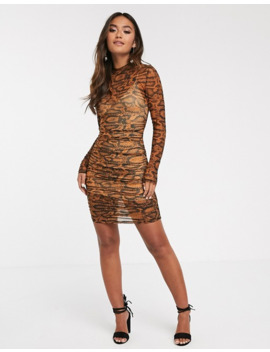 Finders Keepers Bel Air Bodycon Mini Dress In Snake by Finders