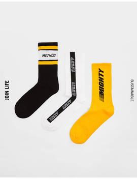 Pack Of Socks With Slogan by Bershka