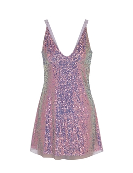 Gold Rush Lilac Sequin Mini Dress by Free People