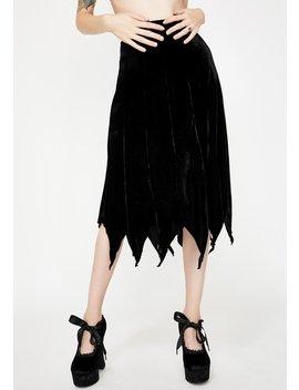 Cybele Velvet Midi Skirt by Necessary Evil