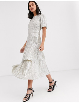 Whistles Arabele Sequin Midi Dress by Whistles