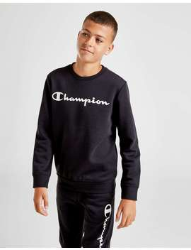 Champion Legacy Fleece Crew Sweatshirt Junior by Jd Sports