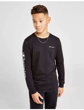 Champion Legend Long Sleeve T Shirt Junior by Jd Sports