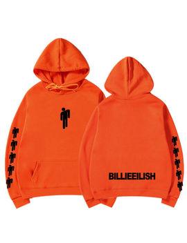Printed Sweatshirt Billie Eilish Hoodie Cartoon Pattern Cotton Sweaters Pullover by Ebay Seller