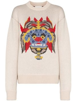 Graphic Jacquard Sweater by Kirin