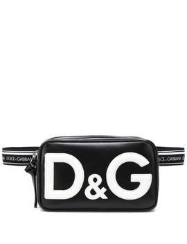 Leather Trim Logo Belt Bag by Dolce & Gabbana Kids