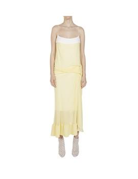 Waffled Hem Draped Long Dress by Christopher Esber