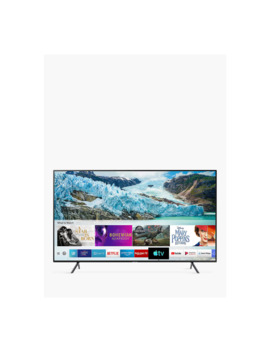"Samsung Ue50 Ru7100 (2019) Hdr 4 K Ultra Hd Smart Tv, 50"" With Tv Plus & Apple Tv App, Charcoal Black by Samsung"