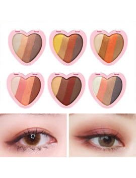 4 Colors Heart Shaped Eye Shadow Palette Heart Shaped Glitter Shimmer Eye Shadow Multifunction Brighten Palette Make Up by Ali Express.Com