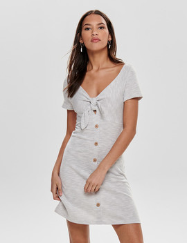 Only Marbella Short Sleeve Dress, Light Grey by Farmers