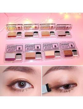 Novo Brand Matte Lazy Eyeshadow Pallete Korean Cosmetics Glitter Shimmer Eyeshadow Double Color Eyeshadow With Brush Makeup Set by Ali Express.Com